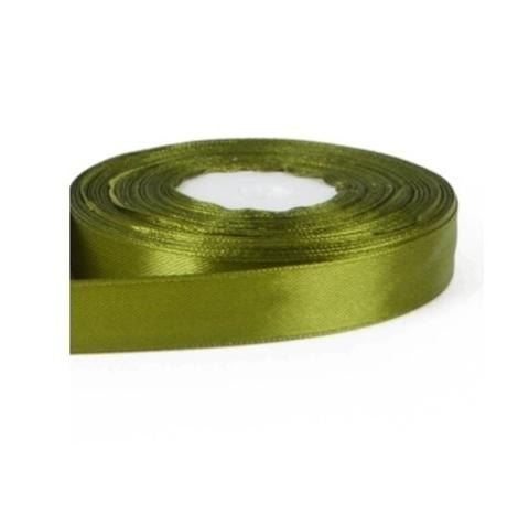 Лента атласная (размер: 15мм х 30м) Цвет:оливковая
