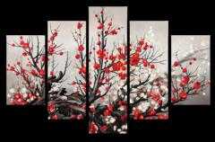 """Модульная картина """"Цветущая сакура"""""""