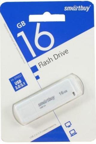 Флеш-накопитель USB 3.0 16GB  Smart Buy  LM05 белый
