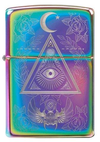 Зажигалка Zippo Classic с покрытием Multi Color, латунь/сталь, разноцветная, глянцевая, 36x12x56 мм