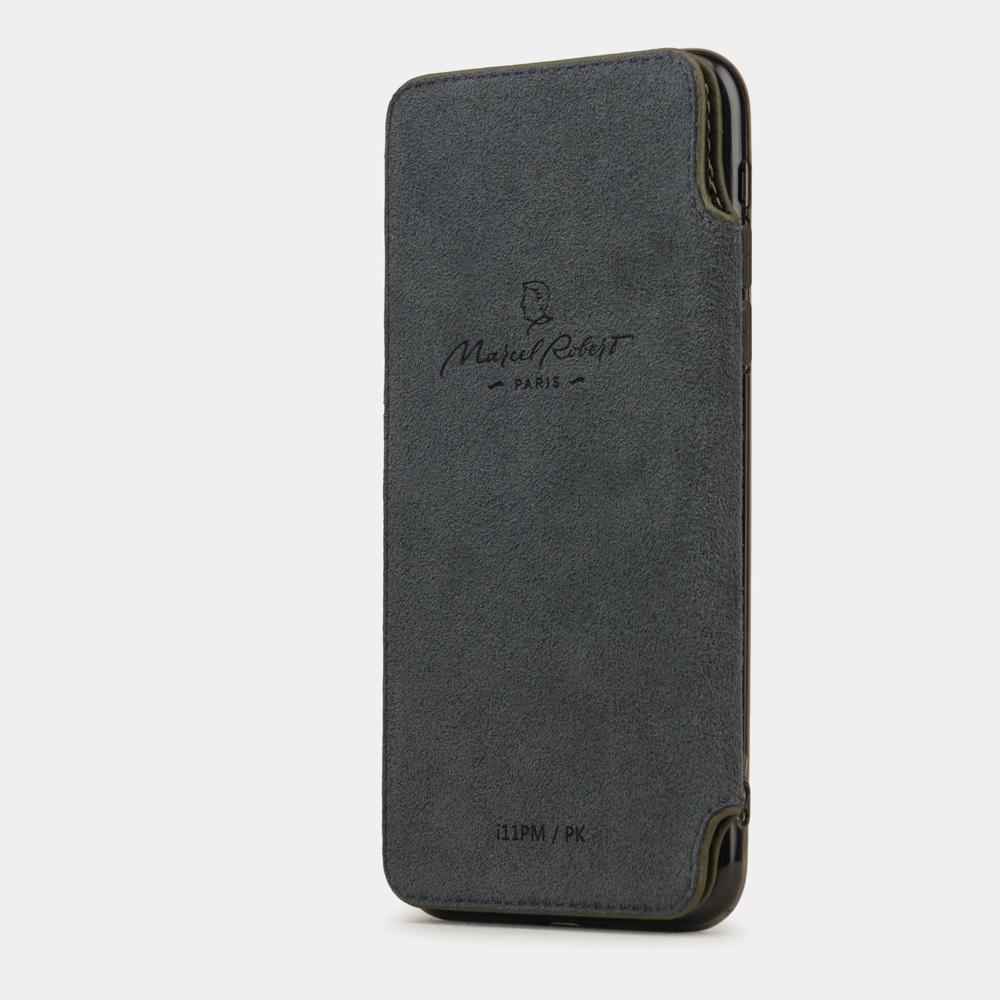 Чехол Benoit для iPhone 11 Pro Max из натуральной кожи теленка, зеленого цвета