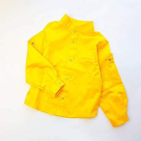 Рубашка желтая со стойкой