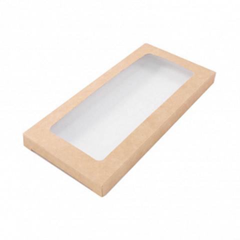 Коробка для шоколадной плитки 18*9*1,7 см, крафт