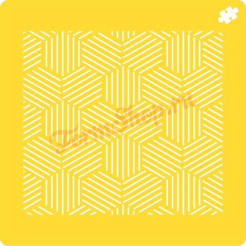Трафарет Геометрия шестиугольники