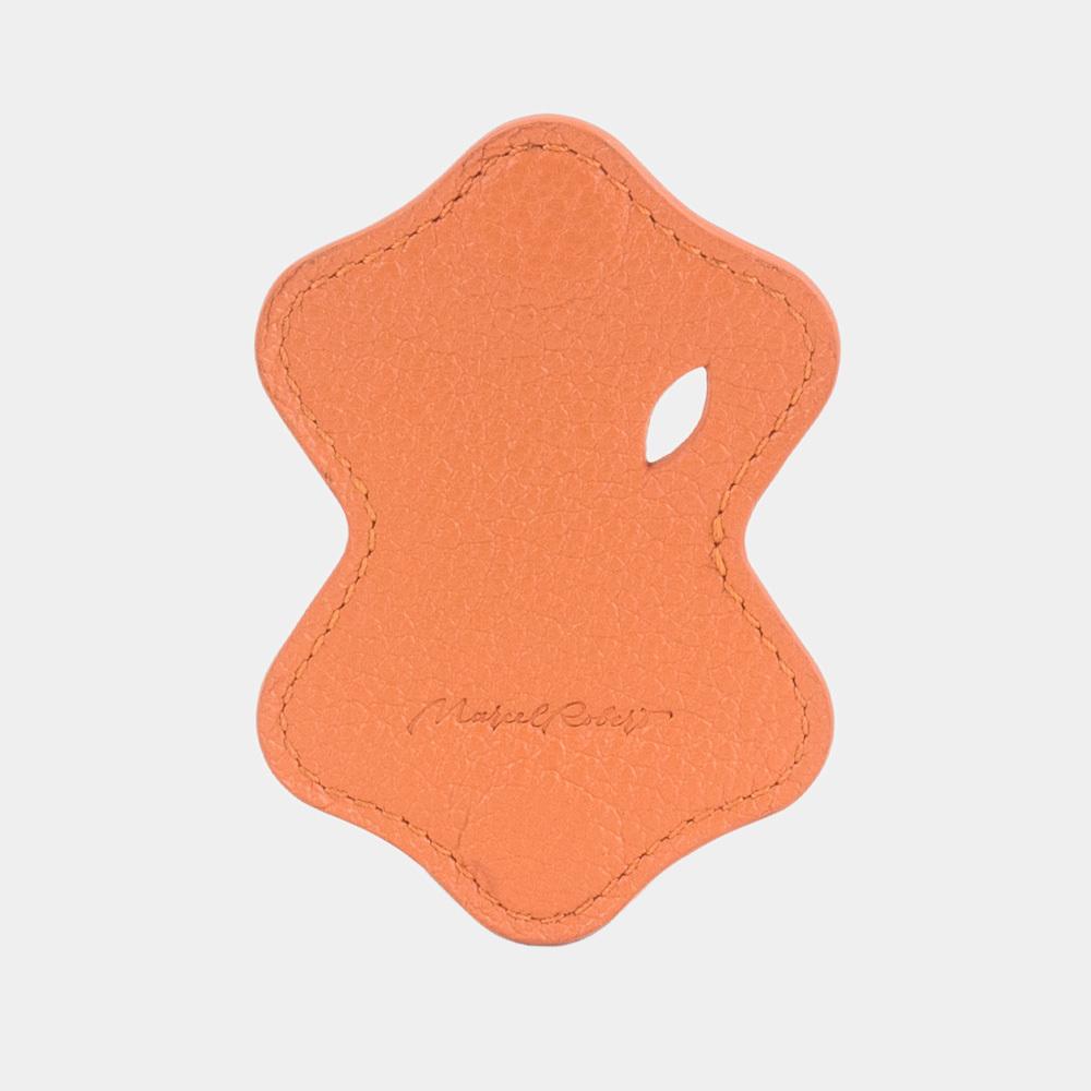 Чехол-держатель для наушников Chapeau Easy из натуральной кожи теленка, оранжевого цвета