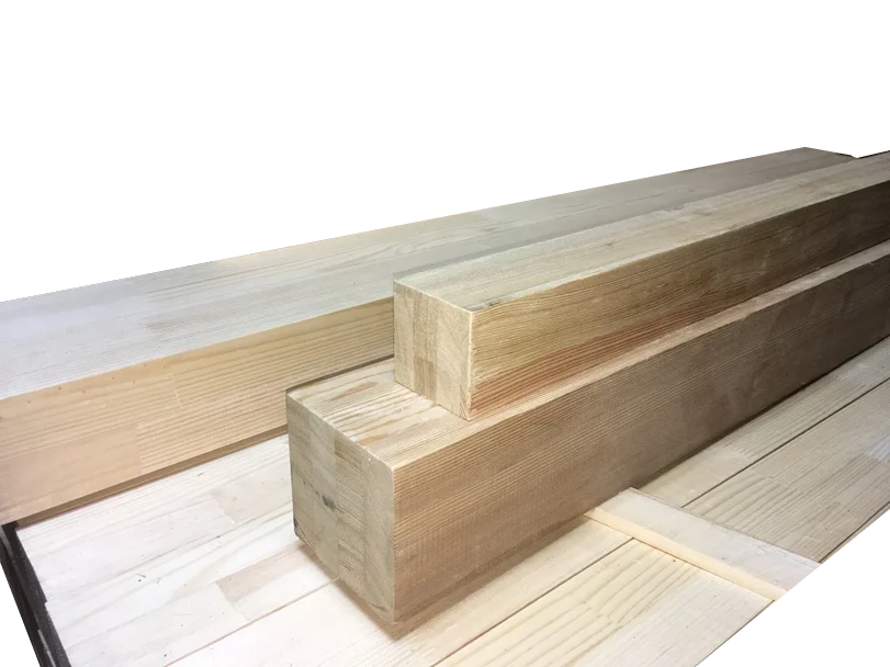 Мебельный брус - лиственница цельноламельная 100мм х 100мм х 1200мм