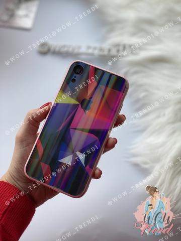 Чехол iPhone XR Polaris smoke Case Logo /pink/