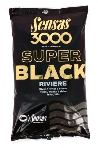 Прикормка Sensas 3000 Super BLACK Riviere 1кг