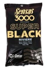 Прикормка Sensas 3000 Super BLACK Riviere 1кг