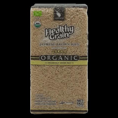 Органический коричневый жасминовый рис SAWAT-D, 1 кг