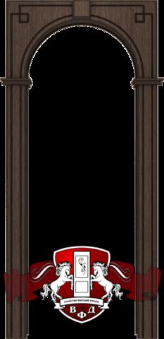 Арка межкомнатная шпонированная Владимирская фабрика дверей, Классика, цвет венге