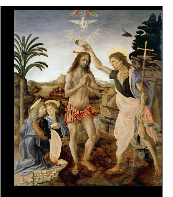 "Леонардо Да Винчи Репродукция ""Леонардо Да Винчи - Крещение Христа "" Х123.png"