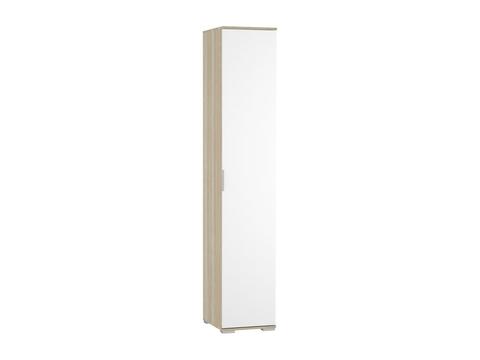 Шкаф одностворчатый Терра ШК-821 бельевой Браво Мебель дуб сонома, белый глянец