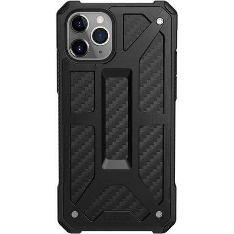 Чехол Uag Monarch для iPhone 11 Pro чёрный карбон (Carbon Fiber)