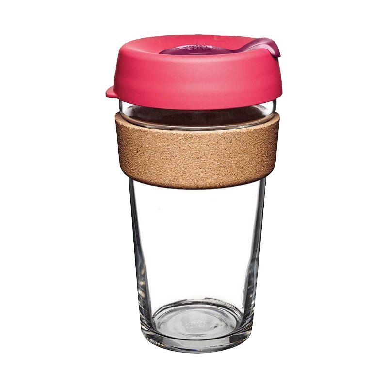 Кружка стеклянная KeepCup Brew - Cork Edition 16oz (450мл) Flutter