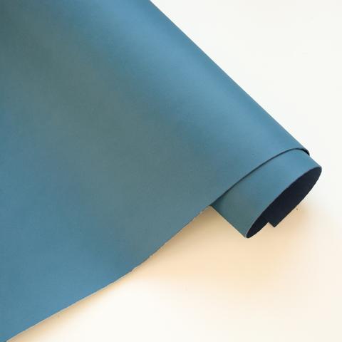 Кожзам переплетный матовый, серо-синий