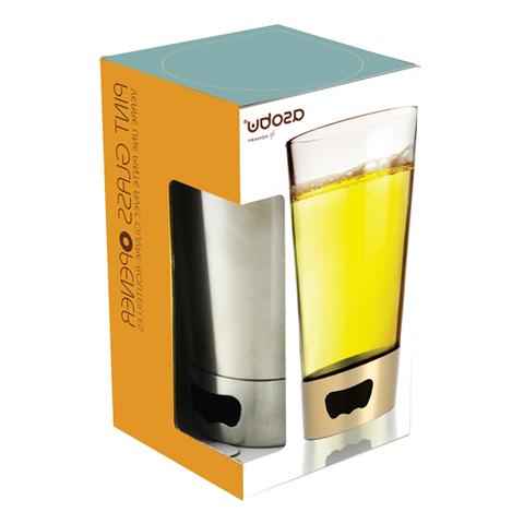 Бокал Asobu Pint glassopener (0,48 литра), стальной