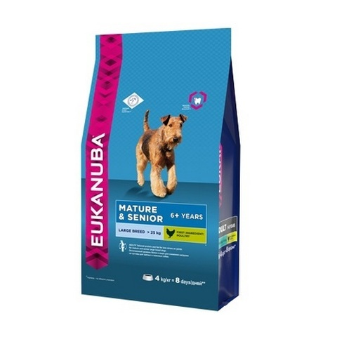 15 кг. EUKANUBA Сухой корм для пожилых собак крупных пород Mature&Senior Large Breed