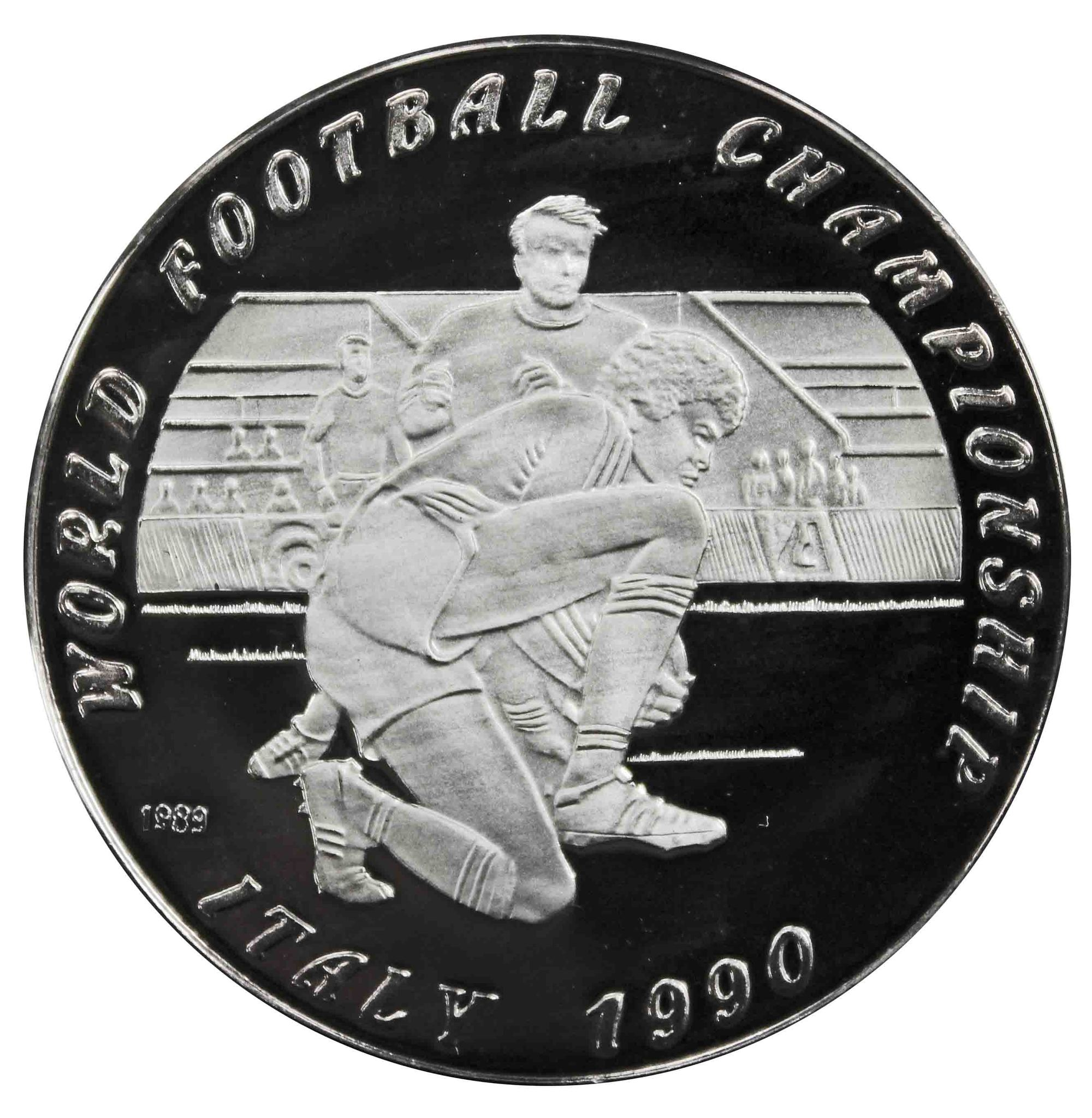 50 кип Чемпионат мира по футболу 1990 года. Лаос. 1989 год. PROOF