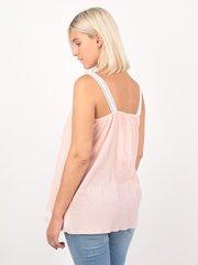 Евромама. Блуза-топ для беременных и кормящих батистовая, персик вид 4