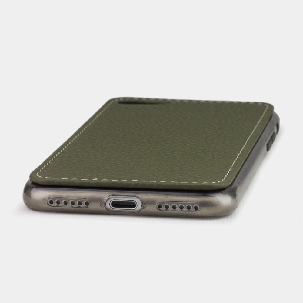 Чехол-накладка для iPhone 8/SE из натуральной кожи теленка, зеленого цвета