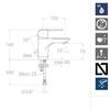 Смеситель для раковины  YPSILON PLUS 6491 - фото №3