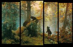 """Модульная картина """"Утро в сосновом лесу"""""""