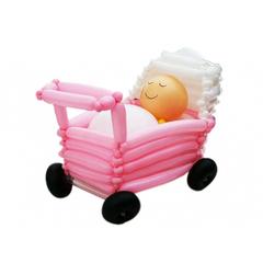 малыш в коляске 60*40см