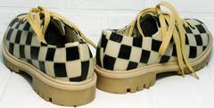 Женские туфли без каблука на шнурках Goby TMK6506