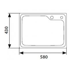 Кухонная мойка врезная из нержавеющей стали Kaiser KSM-5843 580x430x220 схема