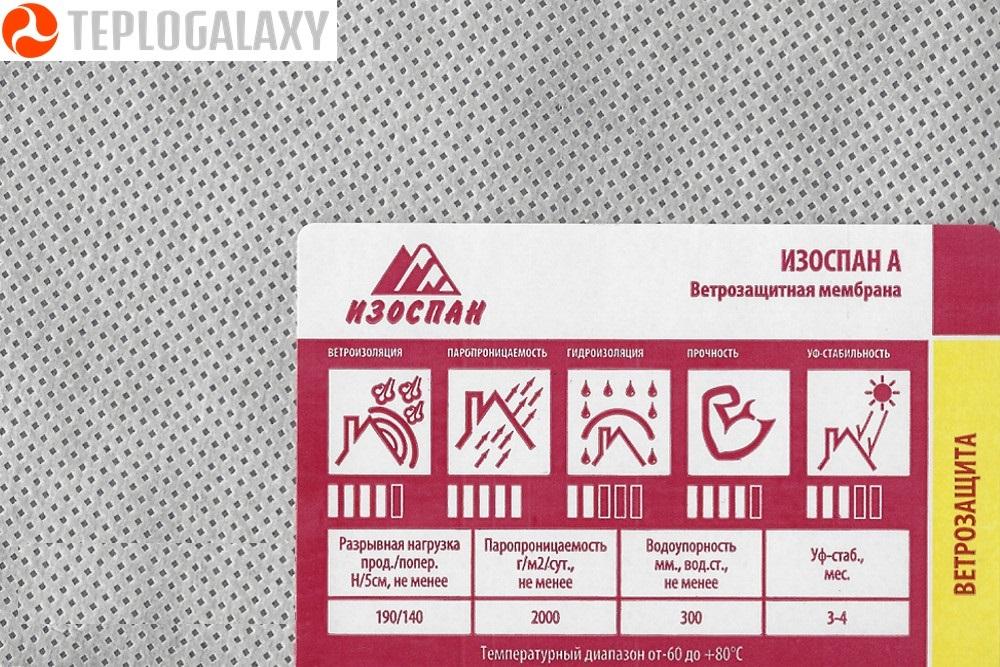 Изоспан А Гидро-ветрозащит. паропрониц. мембрана (35м2)