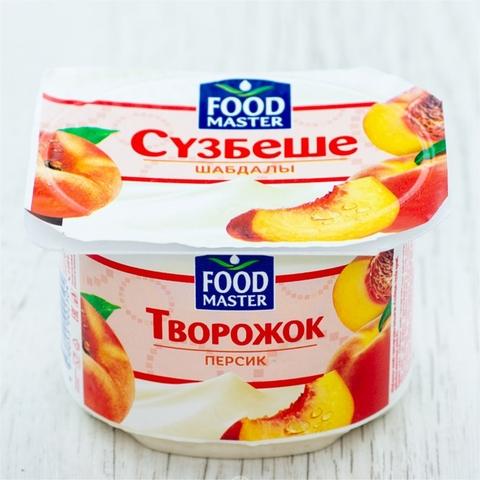 Творожок СУЗБЕШЕ Персик 4% 100 гр пл/ст Food Master КАЗАХСТАН