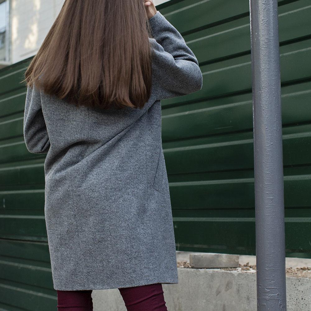 Підліткове кашемірове пальто сірого кольору на дівчинку