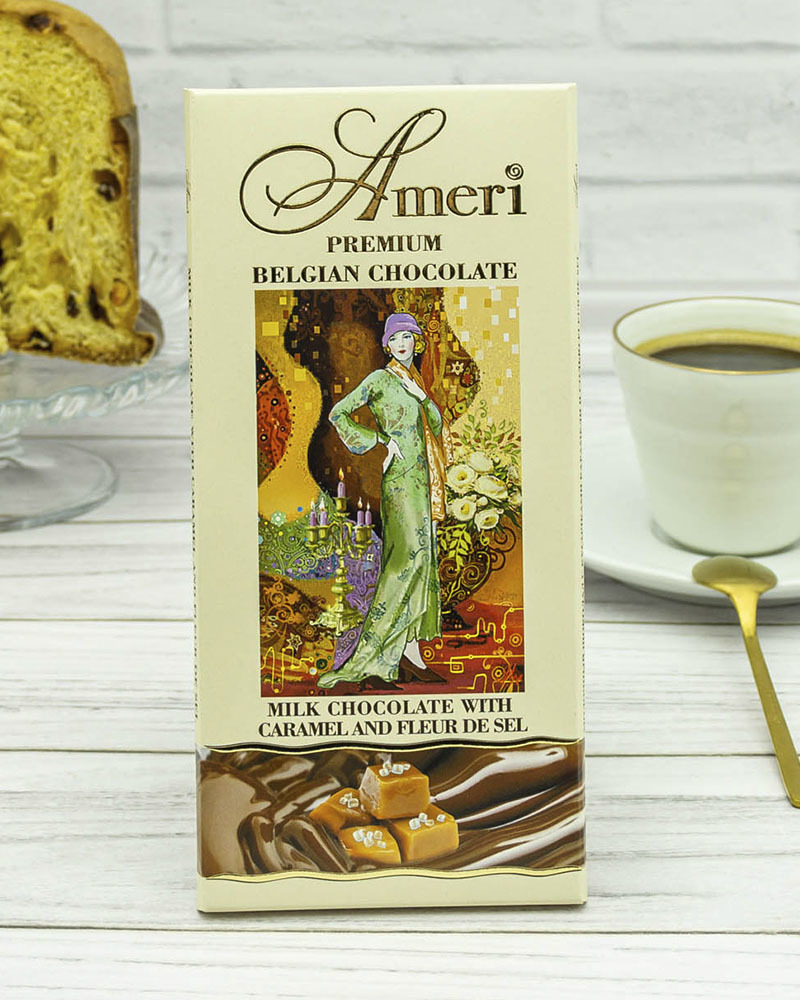 Молочный Шоколад с Карамелью и Морской Солью Ameri 100 гр.