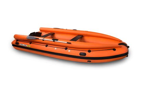 Надувная ПВХ-лодка Солар - 470 Super Jet Tunnel с фальшбортом (оранжевый)