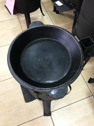 Чугунная крышка-сковорода 12 л