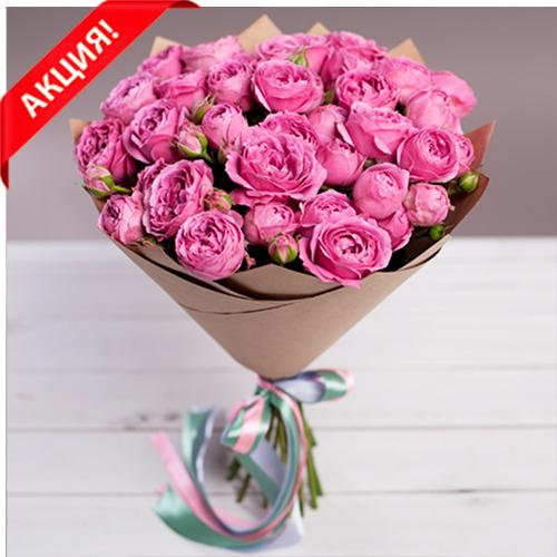 Купить букет 11 кустовых пионовидных роз Мисти Баблс в Перми