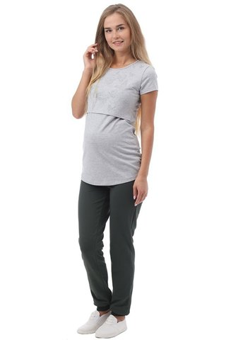Спортивнеы брюки для беременных 10195 хаки
