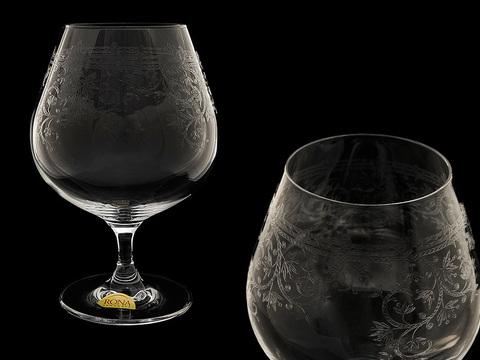 Набор бокалов для коньяка и бренди «Европейский декор»