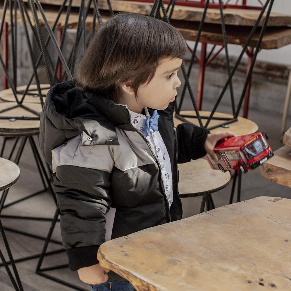 Демісезонна підліткова куртка з світловідбиваючими вставками Grey girl на хлопчика