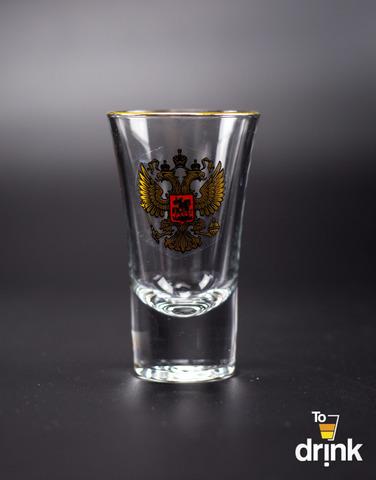 Подарочный набор из 3 стопок для водки «Герб», 60 мл