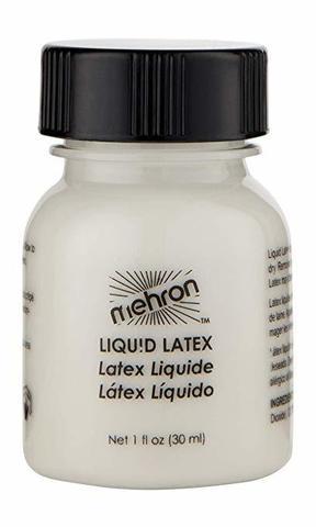 MEHRON Жидкий латекс прозрачный с кисточкой Latex Liquid with Brush Clear, 30 мл
