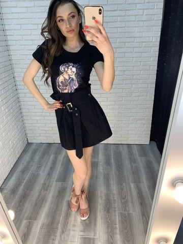 черная юбка с завышенной талией купить