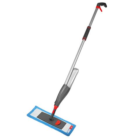Швабра для мытья пола с распылителем, телескопической ручкой 130 см и насадкой