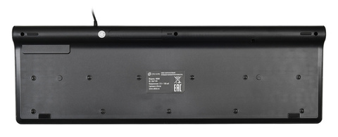 Клавиатура Оклик 480M черный/серый USB slim Multimedia