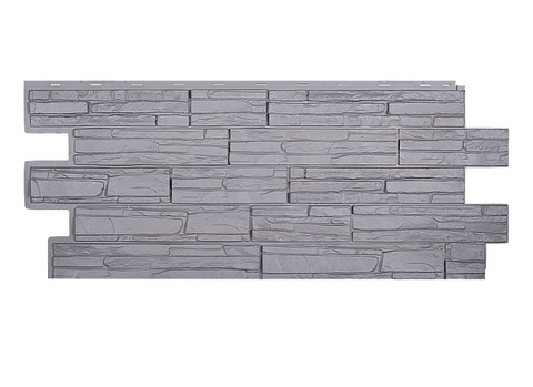 Фасадная панель Альпийская Скала - Серый