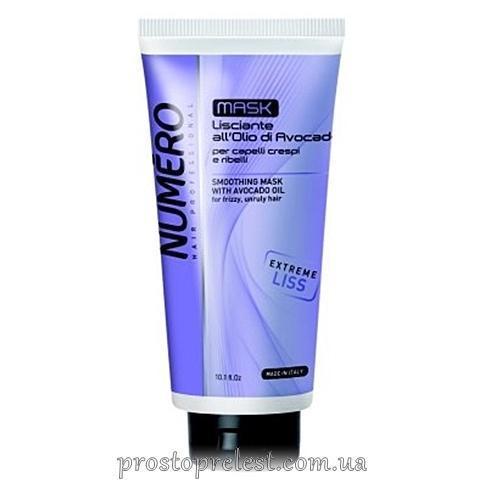 Brelil Numero Liss Mask - Маска для разглаживания волос с маслом авокадо