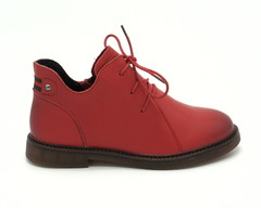 Ботинки кожаные со шнуровкой и молнией
