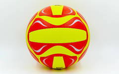 Мяч для пляжного волейбола из 3х слоев композитной кожи Legend желто-красный
