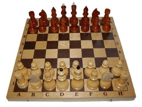 Шахматы турнирные в комплекте с доской,